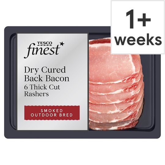Tesco Finest 6 Oak Smoked Dry Cure Thick Bacon 240G