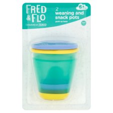 Fred & Flo Weaning And Snack Pots 2 Pack