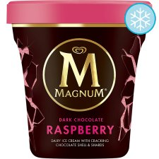Magnum Tub Dark Chocolate And Raspberry Ice Cream 440Ml