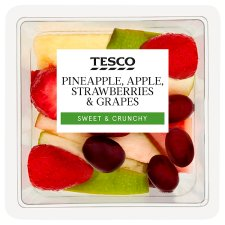 Tesco Pineapple Apple Strawberry And Grape 260G