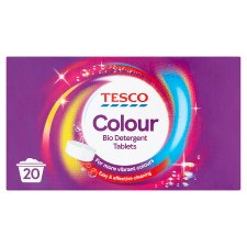 Tesco Colour Laundry Tablets 20 Washes 1.16Kg