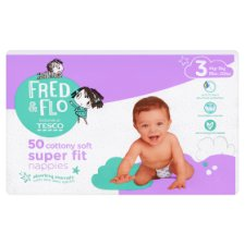 Fred & Flo Super Fit Size 3 Nappy 50 Pack