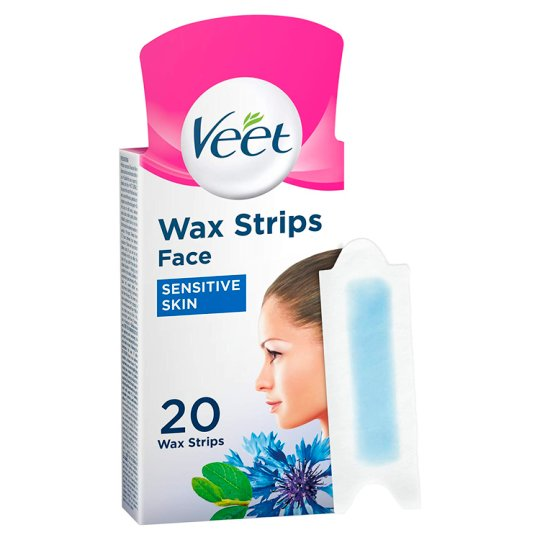 image 1 of Veet Facial Wax Strips Sensitive 20'S