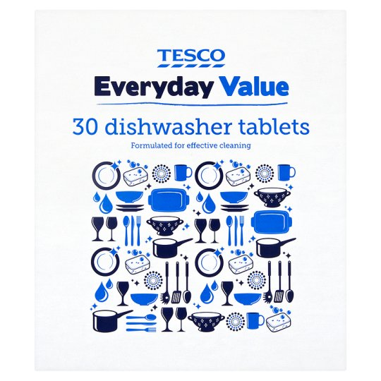 Tesco Everyday Value Dishwasher Tabs 30'S
