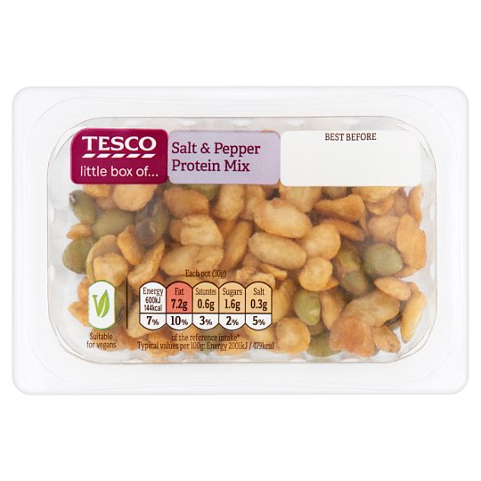 Tesco Salt And Pepper Protein Nut Mix 30G