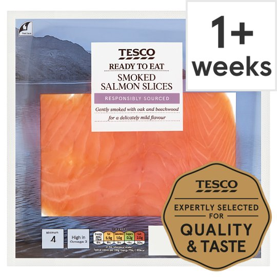 Tesco Smoked Salmon 120G