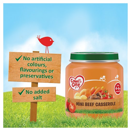 Cow And Gate Mini Beef Casserole Jar 125G 4 Mth+