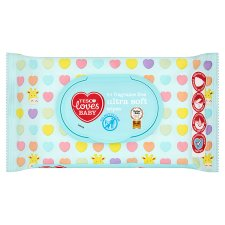Tesco Loves Baby Ultra Soft Fragrance Free Wipes 64 Pack