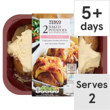 Tesco Baked Potato With Cheese And Bacon 450G