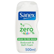 Sanex Zero % Kids Body Wash & Foambath 500Ml