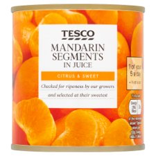 Tesco Mandarin Segments In Juice 298G