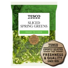 Tesco Sliced Spring Greens 240G