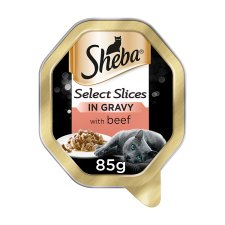 Sheba Slices Gravy Beef Cat Food Tray 85G