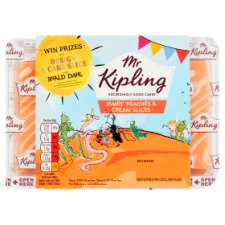Mr Kipling James' Peaches And Cream Slices 6 Pack