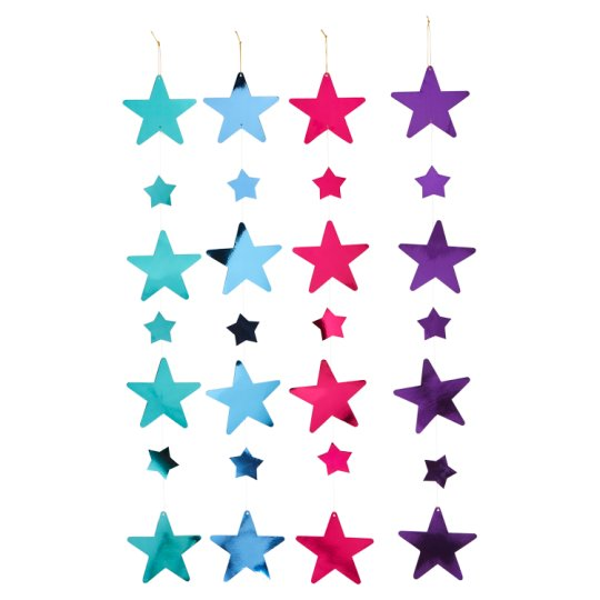 Tesco Hanging Star Decoration 4 Pack