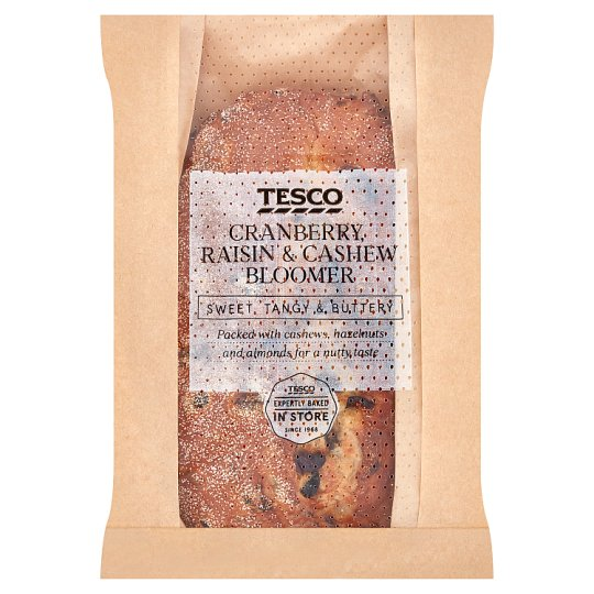 Tesco Cranberry Raisin And Cashew Bloomer 380G