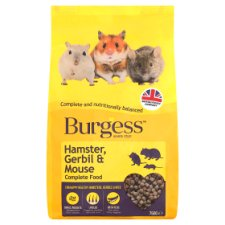Burgess Hamster Gerbil And Mouse Food Mix 750G