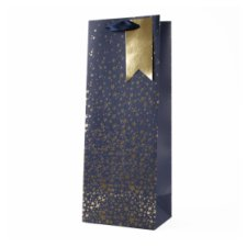 Tesco Navy Gold Star Bottle Bag