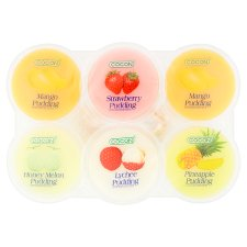 Cocon Assorted Fruit Jelly Pudding 6 X 80G
