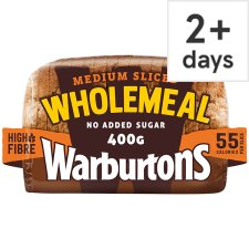 Warburtons Small Wholemeal Medium Bread 400G