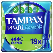 Tampax Pearl Compak Super Applicator Tampons 18