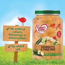 image 2 of Cow & Gate Stage 2 Courgette Tuna Rice 200G Jar