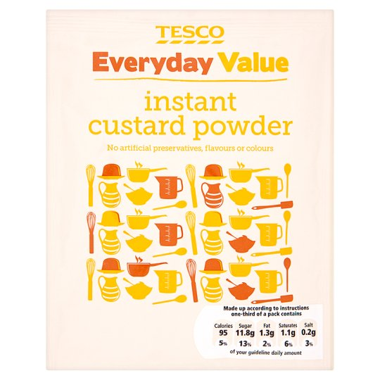 Tesco Everyday Value Instant Custard Powder 70G