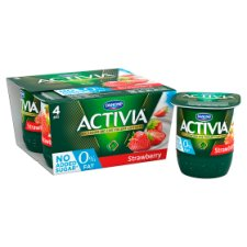 image 2 of Activia 0% Fat Strawberry Yogurt 4 X125g