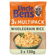 Uncle Bens Microwave Wholegrain Rice 3 X 130G