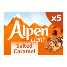 Alpen Light Bar Salted Caramel 5X19g
