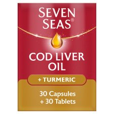 Seven Seas Supplement Cod Liver Oil Plus Turmeric Supplement 60 Pack
