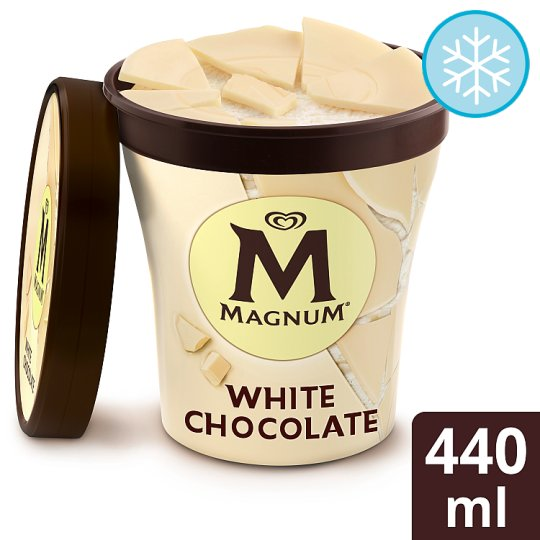 Magnum White Ice Cream Tub 440Ml