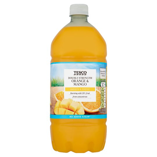 Tesco Double Strength Orange And Mango Squash, No Added Sugar 1.5L