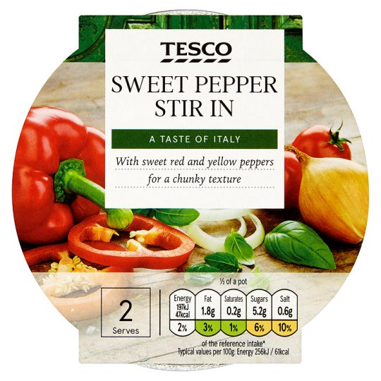Tesco Stir In Sweet Pepper Pasta Sauce 155G