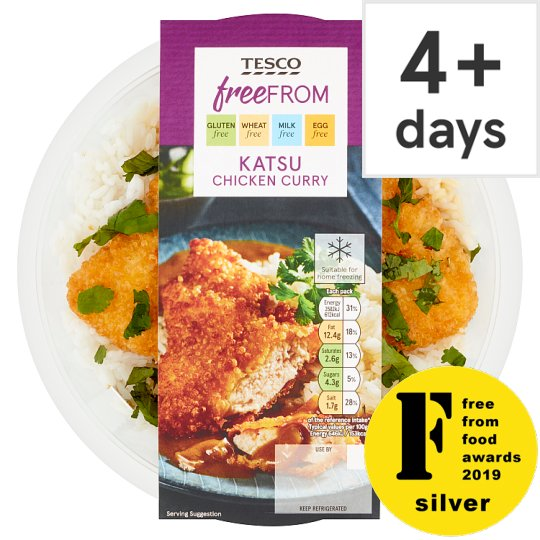 Tesco Free From Katsu Chicken Curry Rice Ready Meal 400G