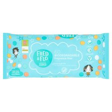 Fred & Flo 60 Biodegradable Fragrance Free Wipes