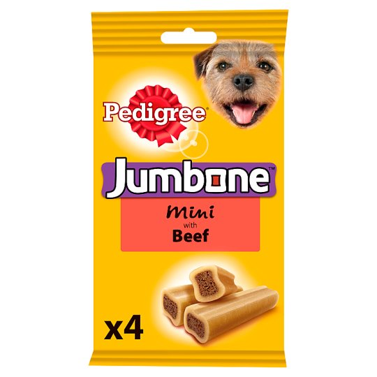image 1 of Pedigree Jumbone Small Beef Dog Chews 4 Pk, 180G