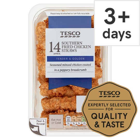 Tesco Bitesize Southern Fried Chicken Straws 168G