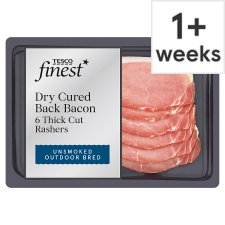 Tesco Finest Unsmoked 6 Dry Cure Thick Cut Bacon 240G