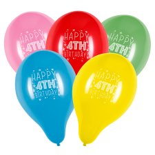 Tesco 10 Pack Happy Birthday Balloons Age 4