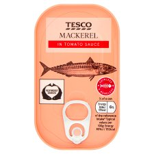 Tesco Skinless Boneless Scottish Mackerel In Tomato Sauce 125G