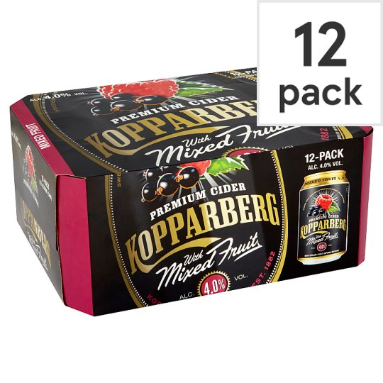 Kopparberg Mixed Fruit Cider 12X330ml Can