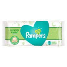 Pampers Natural Clean Baby Wipes 1X64 64 Wipes
