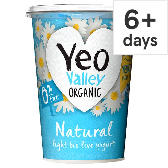 Yeo Valley 0% Fat Natural Yoghurt 500G