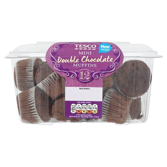 Tesco Double Chocolate Mini Muffins 12 Pack