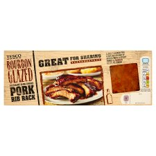 Tesco Bbq Bourbon Glazed Pork Ribs 460G