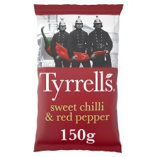 Tyrrells Sweet Chilli And Red Pepper Crisps 150G