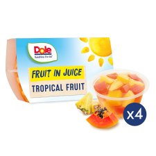Dole Tropical Fruit In Juice 4 Pack 452G