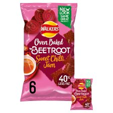 Walkers Oven Baked Beetroot & Sweet Chilli 6X23g