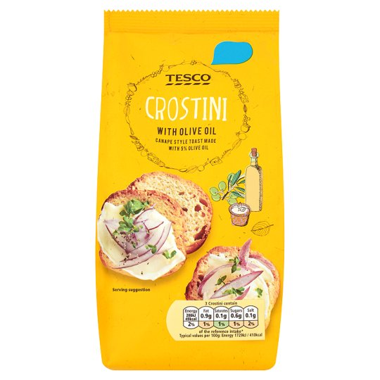 Tesco Toasted Crostini With Olive Oil 100G